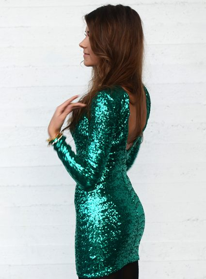sparkly green
