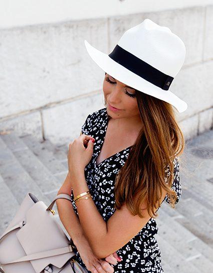 panama hat & lace-up flats